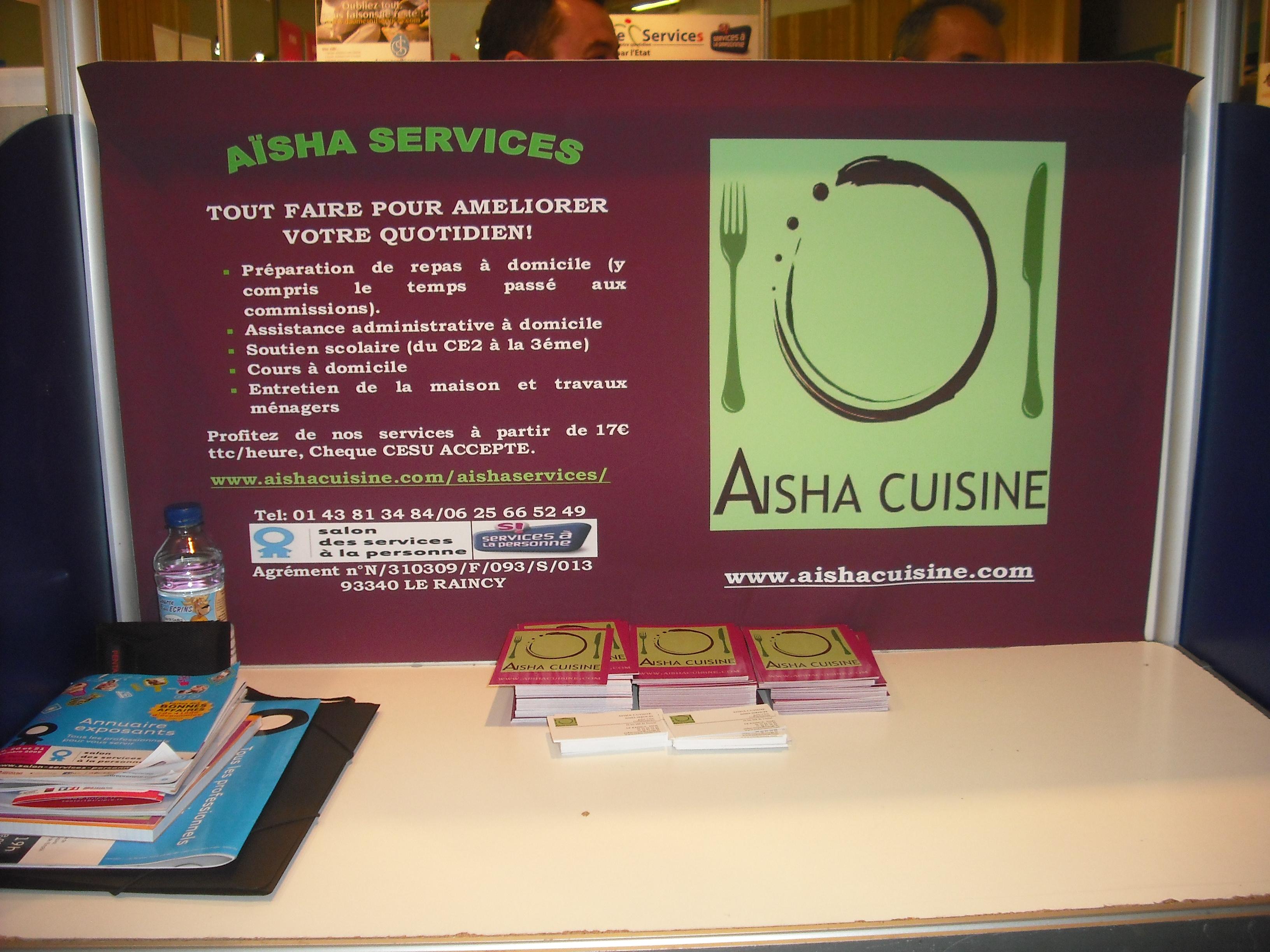 Aisha services pr sent au salon du service la personne for Salon service a la personne